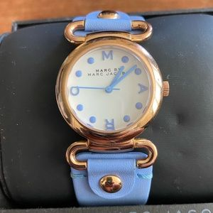 MARC by Marc Jacobs Soft Leather Blue Watch